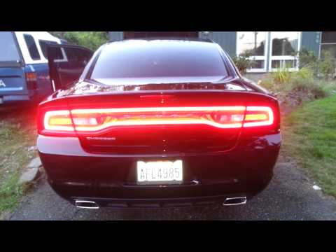 2012 Dodge Charger with sequential taillights