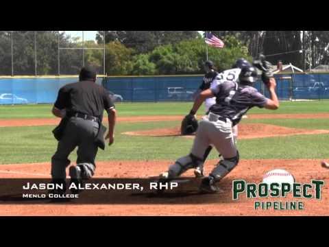 Jason Alexander Prospect Video, RHP, Menlo College