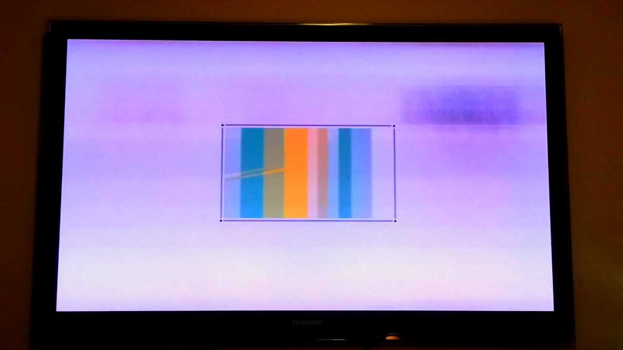 Samsung PS58C7000 hazy picture problem
