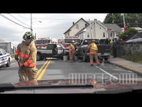 """Head on collision with heavy entrapment  """"Dash cam"""""""