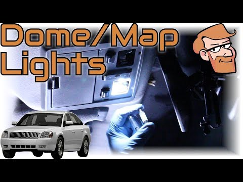 Mercury Montego (2005/2006/2007) Map/Dome Light Replacement/Upgrade • Cars Simplified Quick Tips