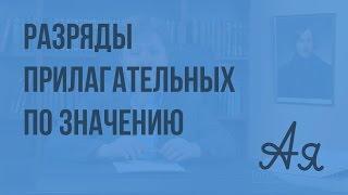 Разряды прилагательных по значению. Видеоурок по русскому языку 6 класс