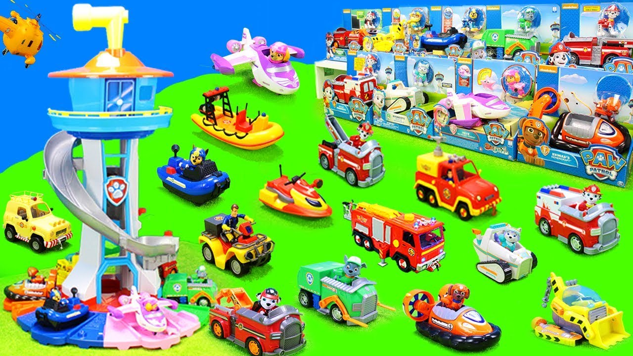 feuerwehrmann sam paw patrol feuerwehrautos. Black Bedroom Furniture Sets. Home Design Ideas