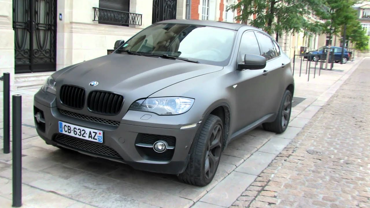 Bmw X6 Gris Mat Reims Youtube