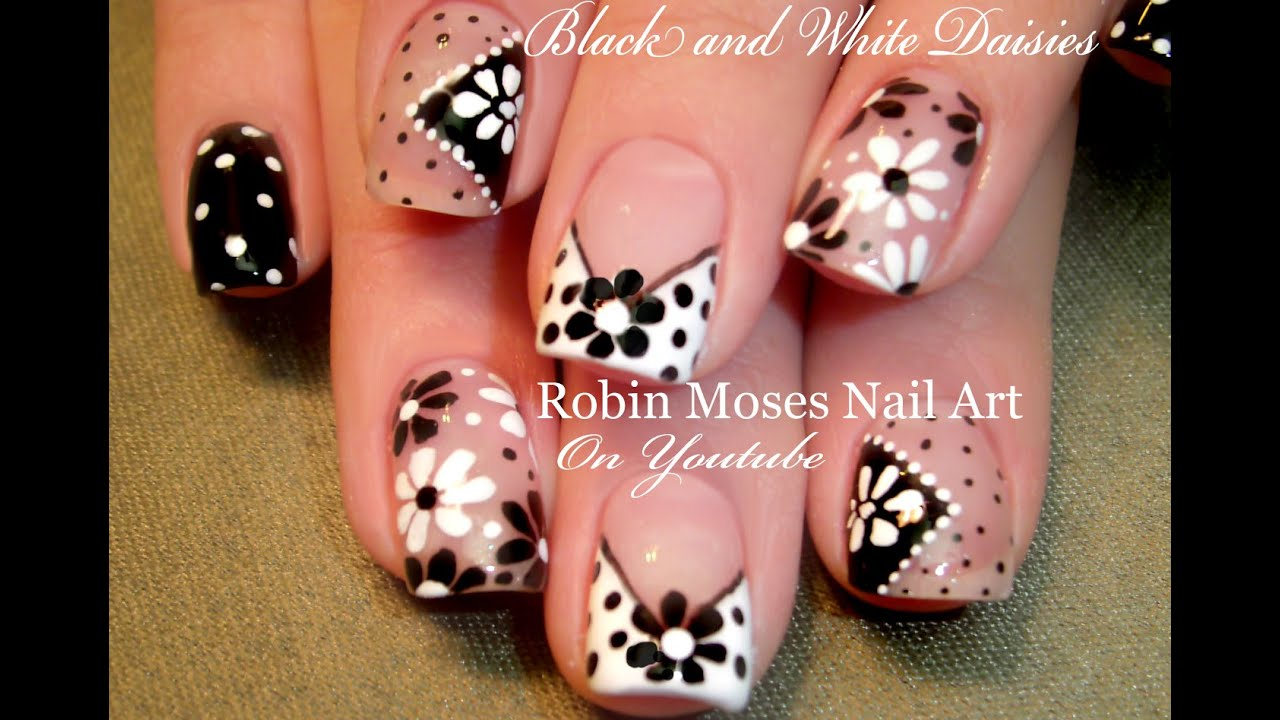 diy easy dot flower nail art