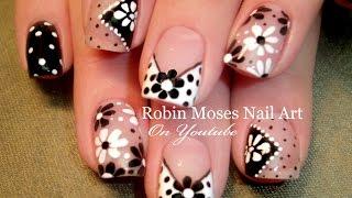 diy easy dot flower nail art for beginners   cute daisy nails design tutorial