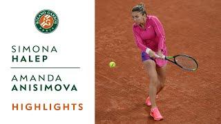 Simona Halep vs Amanda Anisimova - Round 3 Highlights I Roland-Garros 2020
