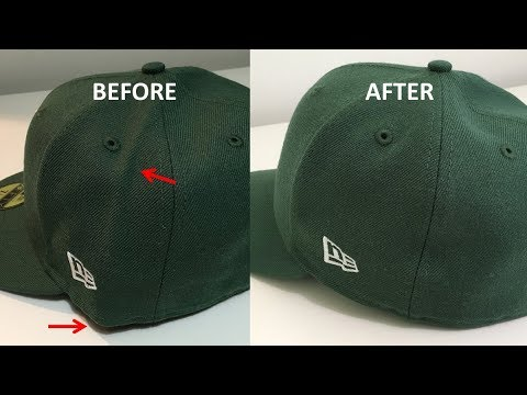 Smoothing the Wrinkles in your Baseball Caps - YouTube f4f1cc6ea8f