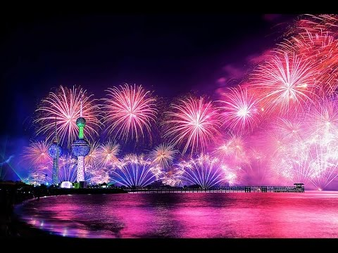 Fireworks at Kuwait Towers 2016