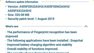 Samsung a50 got august security updates with faster fingerprint recognition and lot more
