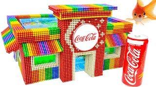 Creative DIY - Build Amazing Coca Cola Shop Aquarium With Magnetic Balls (Satisfying) - Magnet Balls