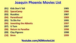 Joaquin Phoenix Movies List
