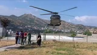 Tunceli-Ovacık İlçesinde Ayı Saldırısında Ayağı Kırılan Vatandaşımız  Helikopter  ile Kurtarıldı