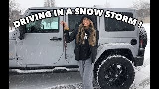 FIRST TIME DRIVING IN THE SNOW! drive with me