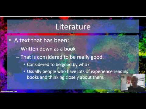 What is literature?