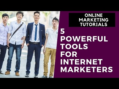 Online Marketing Tutorial For Beginners Part 2 | 5 Powerful Tools for Internet Marketers thumbnail