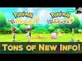 Pokemon Lets Go - TONS of New Info! (Battles, Trading, Online, Gyms, Co-op, & More)