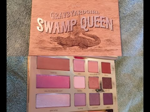 tarte grav3yardgirl swamp queen palette first impression and swatches youtube. Black Bedroom Furniture Sets. Home Design Ideas
