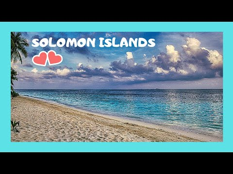 SOLOMON ISLANDS, landing in the beautiful island of Ghizo (Pacific Ocean)