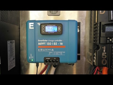 Victron MPPT 150v 85amp TR charge controller with built in bluetooth. Unboxing and install