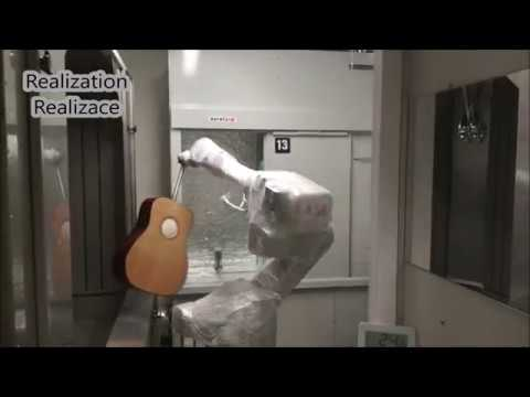 Robotic guitar body varnishing
