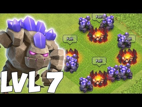 NEW UPDATE LVL 7 GOLEM!!