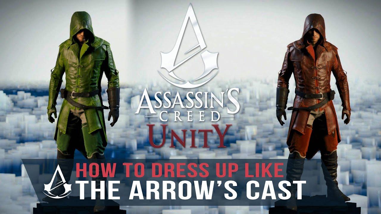 Assassinu0027s Creed Unity Guide - How to Dress up like the Arrows (Green u0026 Red Arrow) - YouTube & Assassinu0027s Creed Unity Guide - How to Dress up like the Arrows ...