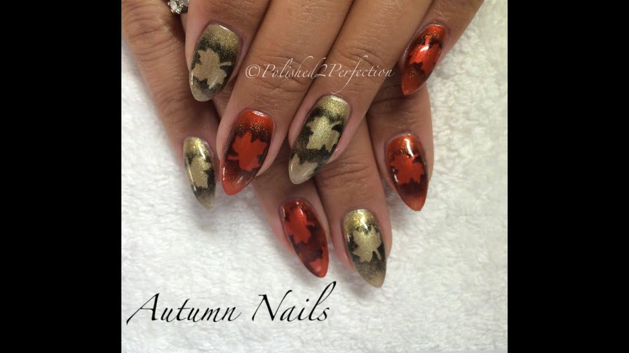 Autumn / Fall nails! CND Shellac | Empower Nail Art - YouTube