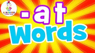 at Words for Kids | Reading at Words | at Words for Preschool | Learning Time Fun | at Words Phonics