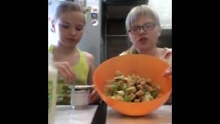 Кукинг салат цезарь.#1