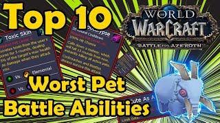 Top 10 Worst Pet Battle Abilities in WoW