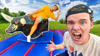 LAST TO LEAVE MECHANICAL BULL WINS $10,000 (ft. Free Time)