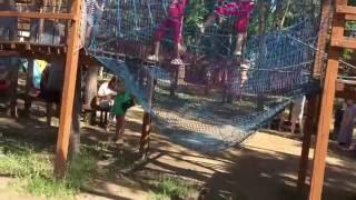 Веревочная лестница. Алые Паруса. Воронеж. Rope-ladder. Scarlet Sails.(Мы с моей семьей отдыхаем в парке