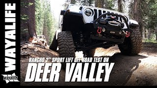 Jl Journal : Jeep Jl Wrangler Off Road Test Of The Rancho Sport Lift On The Deer Valley Trail