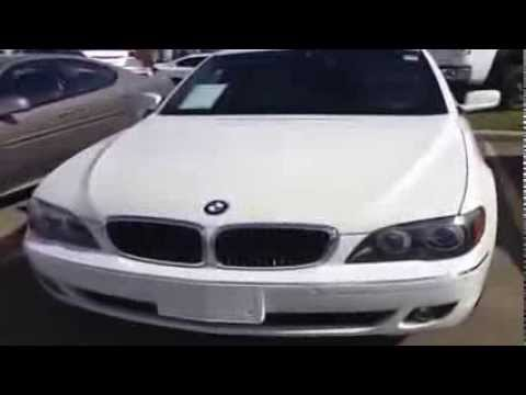 2006 Used BMW 7 Series 750i White Exterior And Beige Interior Calgary
