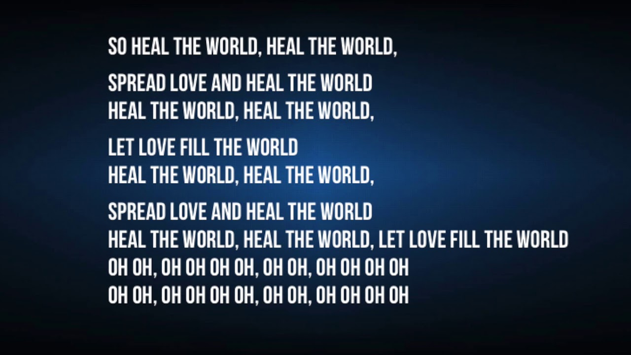 heal the world michael jackson meaning