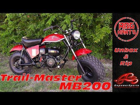 Trailmaster MB200 Unboxing & Impressions ~ Mini Bike Monday
