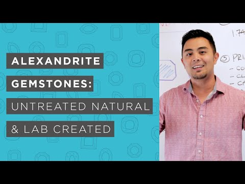 Alexandrite Gemstones   Untreated Natural and Lab-Created