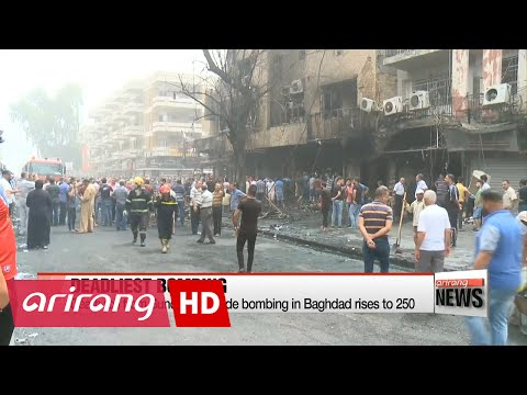 Death toll from suicide bombing in Baghdad rises to 250