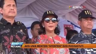Viral! Menteri Susi Pudjiastuti Joget di Atas Kapal