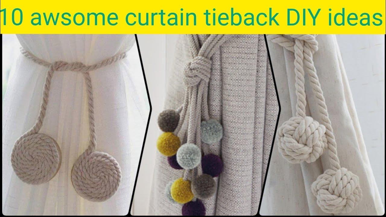 10 Diy Curtain Tie Backs Ideas Easy