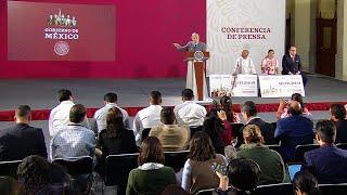 Entrega de recursos de subasta a municipios de La Montaña de Guerrero. Conferencia presidente AMLO