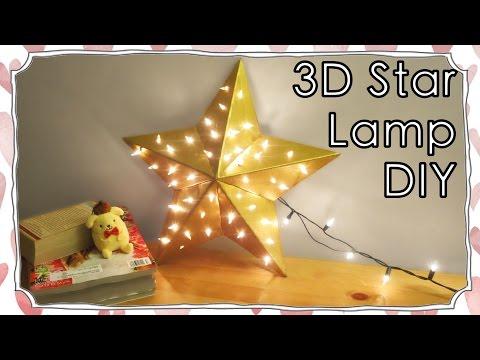 Room Decor - 3D Star Shape Lamp DIY   Sunny DIY