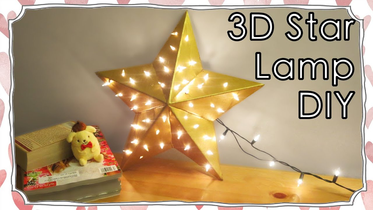 Room decor 3d star shape lamp diy sunny diy youtube aloadofball Gallery
