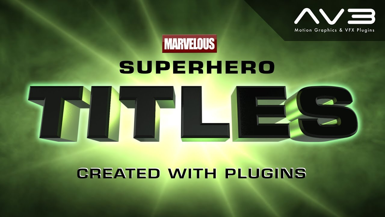 creating superhero titles with plugins free title templates for