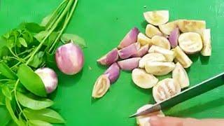 Olahan terong lalap masak rebus ala jawa / processed fres eggplant