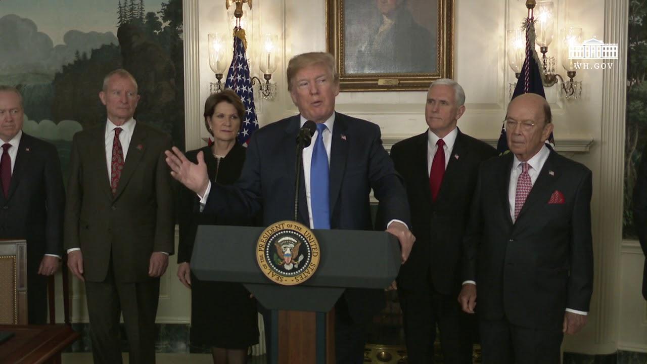 Hasil gambar untuk President Trump Signs a Presidential Memorandum Targeting China's Economic Aggression