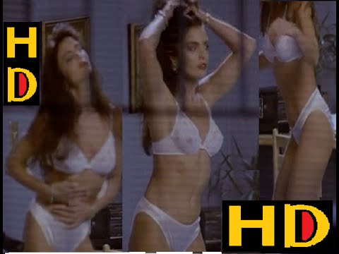 Tracy Scoggins  in White Bikini  American Actress Dance in Room