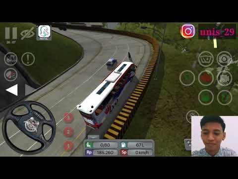BUS INI TIDAK KUAT NANJAK DI SITINJAULAUIK.-game bus simulator Indonesia- - 동영상