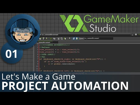 CAMERA MOVEMENT - Let's Make A Game: Ep. #1 - Project Automation - Game Maker Tutorials